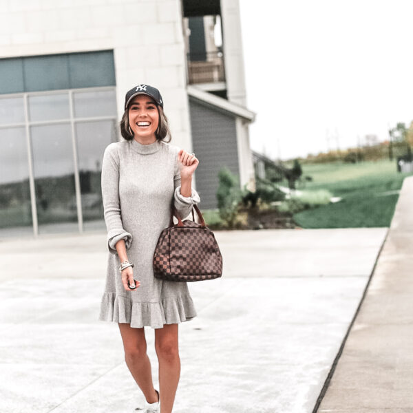 Two Ways to Style a Sweater Dress